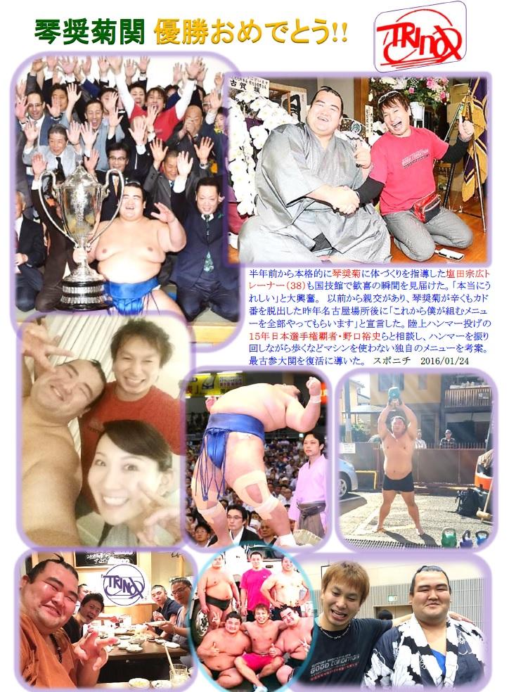 琴奨菊関優勝おめでとう