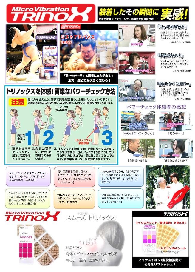 TRINOX 体感(テープ・シール)POP1