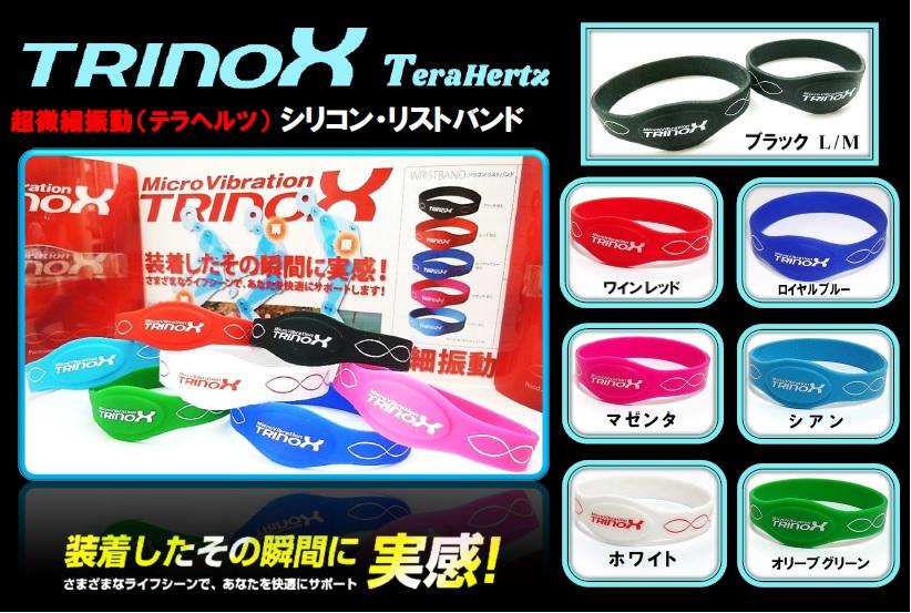1 バナー TRINOX シリコン・リストバンド