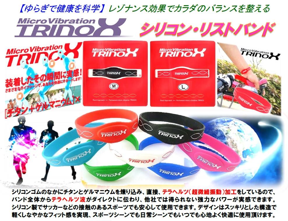 2 バナー TRINOX シリコン・リストバンド