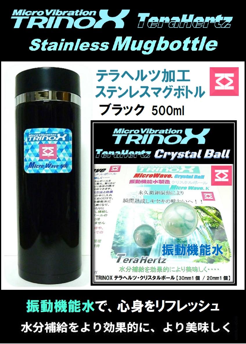 2. バナー 500ブラック ステンレスマグボトル